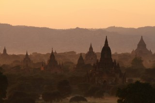 Bagan na sunset