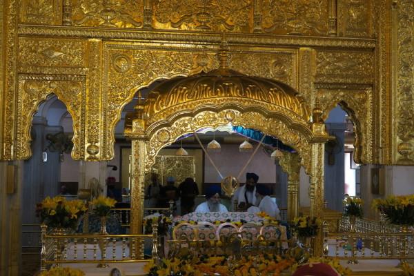 Binnenin Sikh tempel