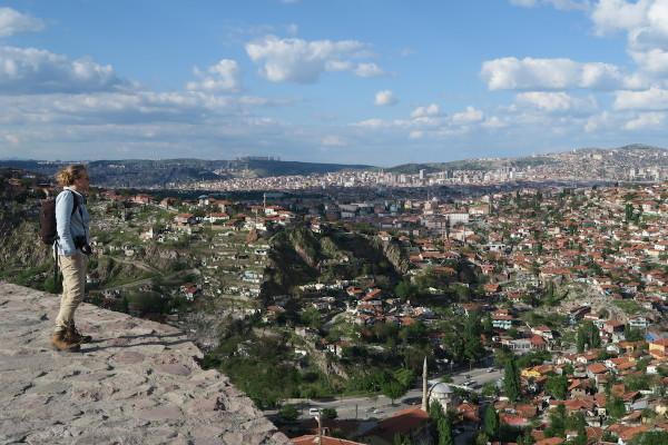 Bovenop Ankara Castle
