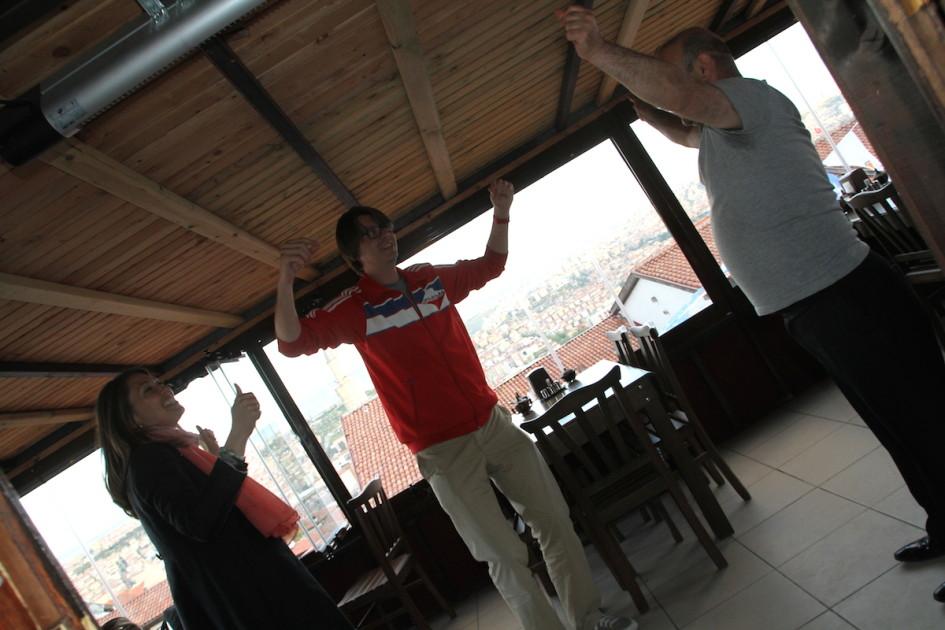 Dansen met uitzicht over Ankara