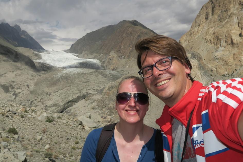 Hiken Passu selfie met zweet