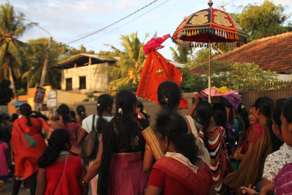 Hindu optocht Jaffna