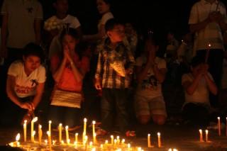 Kaarsen bij het paleis