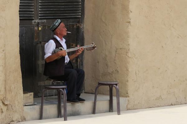 Mannetje buiten Turpan