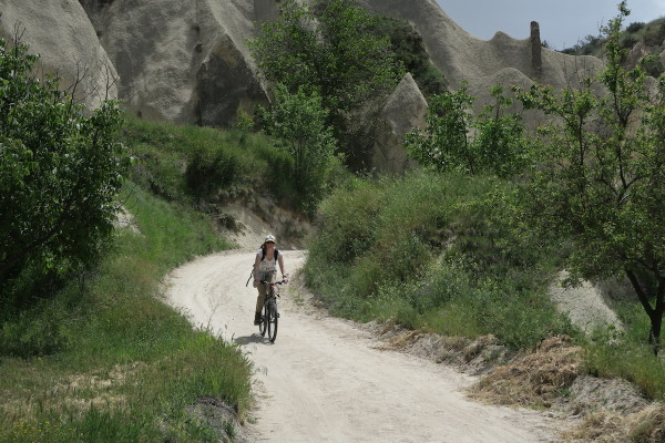 Marloes op fiets