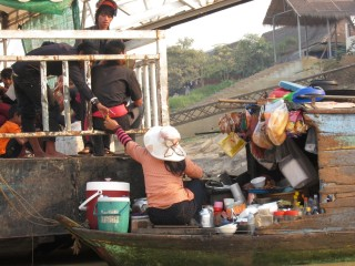 Minimarkt op het water