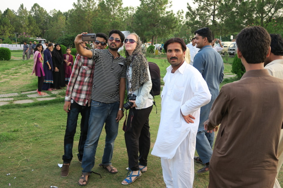 Op de foto in Islamabad