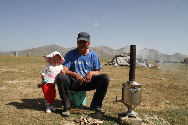 Opa met kleindochter