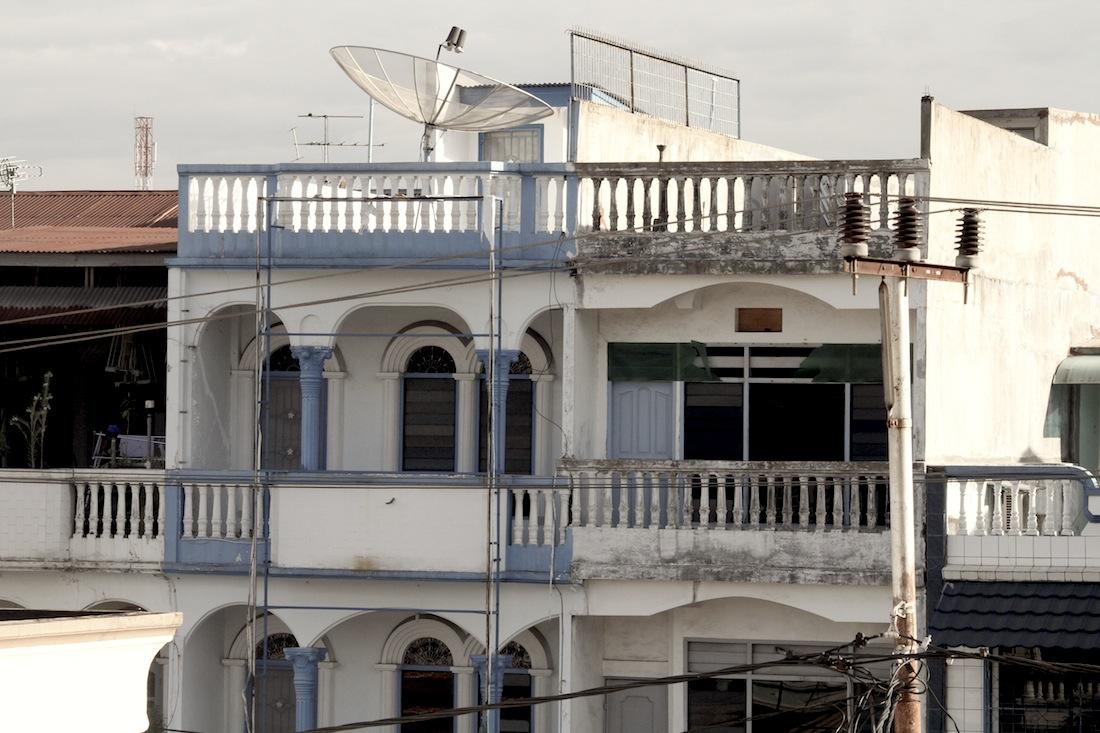 Oude huizen Padang