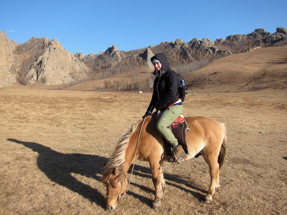 Paardrijden in Mongolië