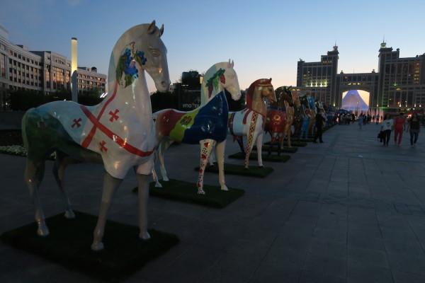 Paarden in Astana