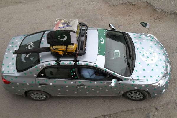 Pakistan promotieteam auto