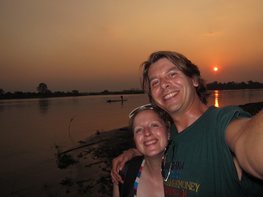 Poseren bij de sunset