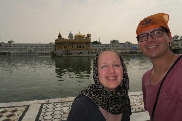 Selfie bij Golden Temple