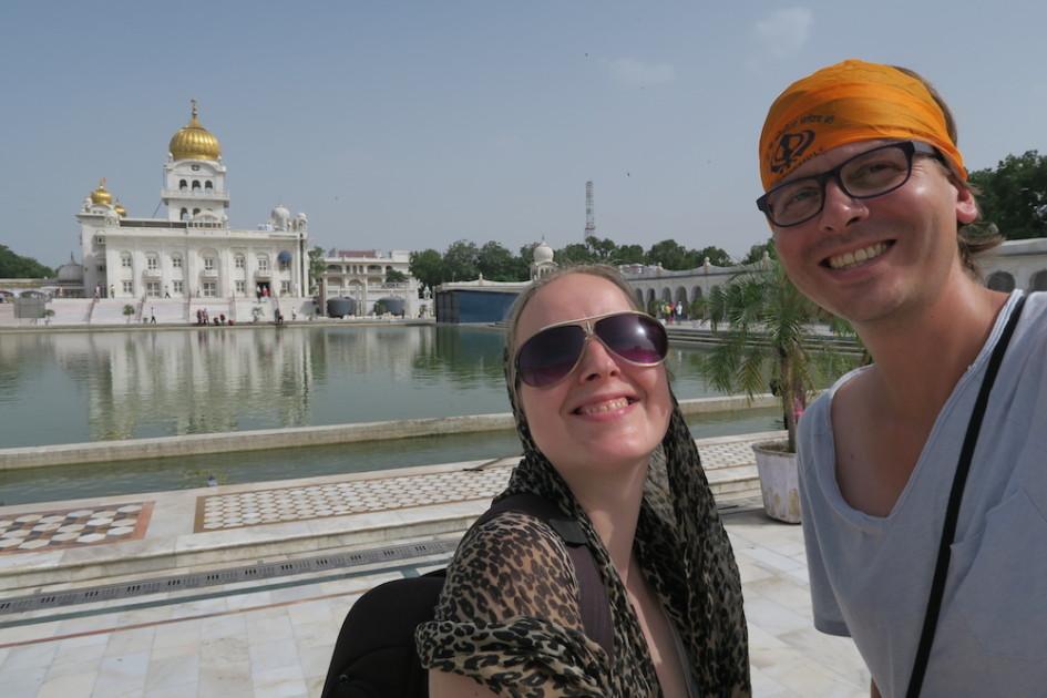 Selfie bij de Delhi Sikhs