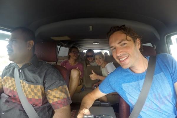 Selfie met Laurence in bus