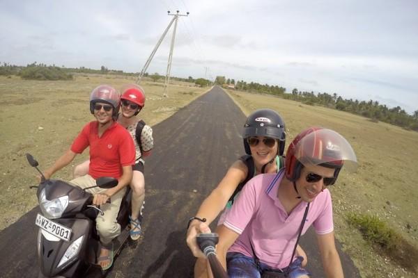 Selfie op scooter
