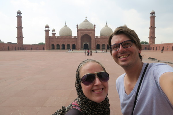 Selfie rode moskee Lahore