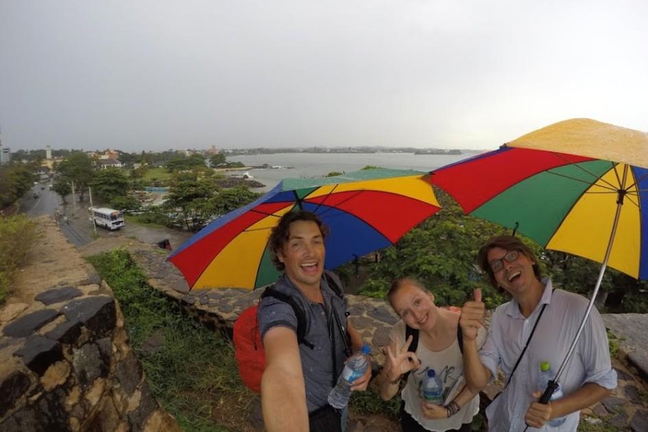 Selfie wandeltocht Galle fort met regen