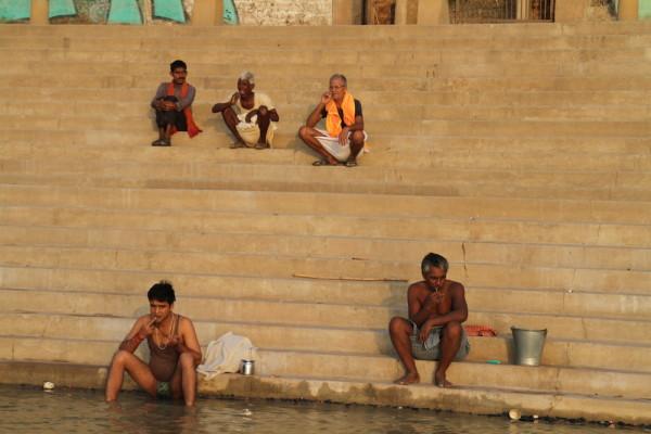 Tanden poetsen aan de Ganges