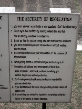 Toul Sleng regels