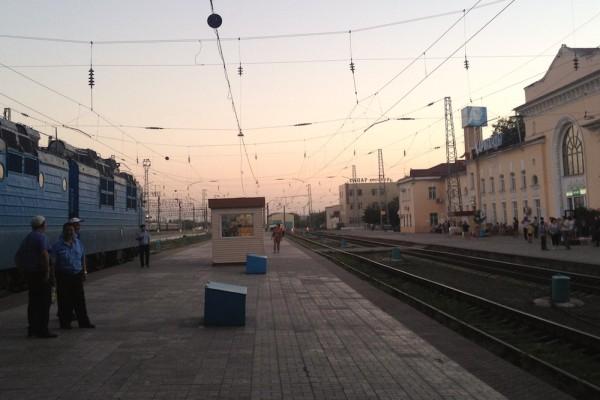 Trein station Kazakhstan