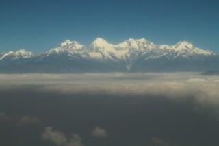 Uitzicht uit vliegtuig